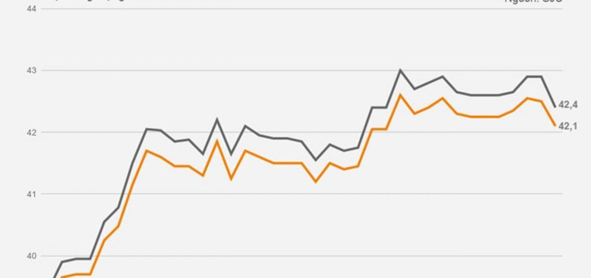 Diễn biến giá vàng trong nước từ ngày 1/8 đến nay