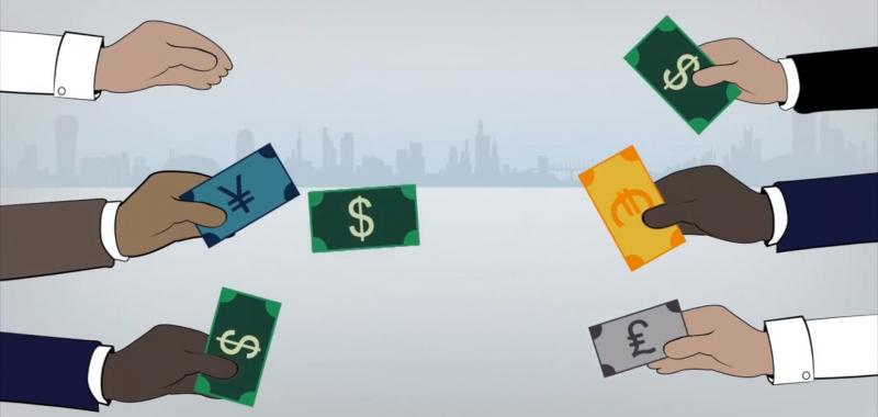 Ở thị trường ngoại hối, tiền chỉ chuyển từ tay người này sang người khác