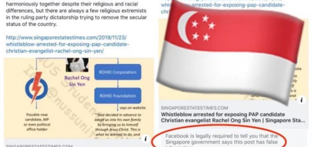 Facebook phải đính chính tin giả theo lệnh chính phủ Singapore