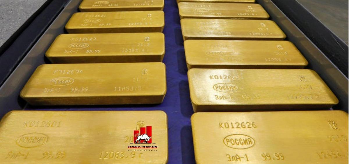 Giá vàng giảm từ mức cao nhất trong sáu năm