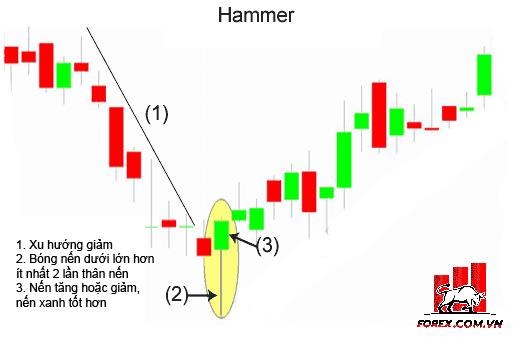 Hammer: Mô hình nến Búa