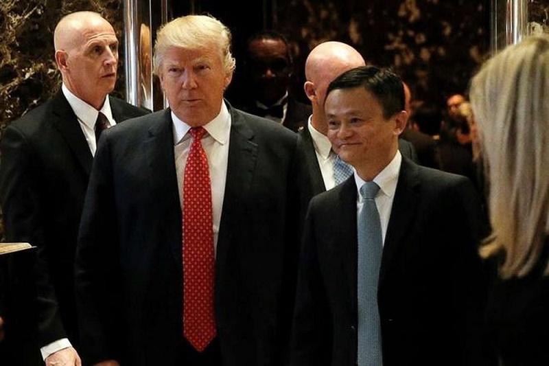 Tổng thống Donald Trump và đồng sáng lập Alibaba - Jack Ma