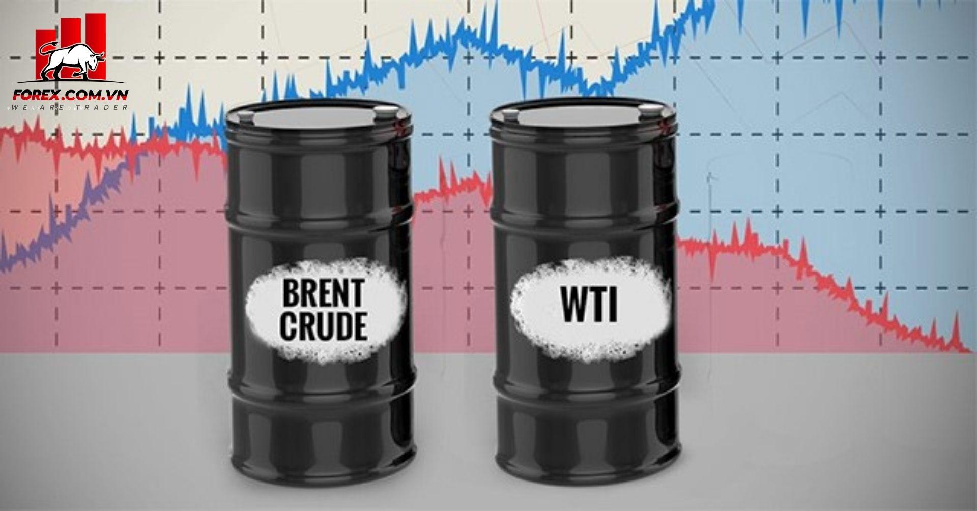 giá hợp đồng dầu thô WTI và brent đều tăng
