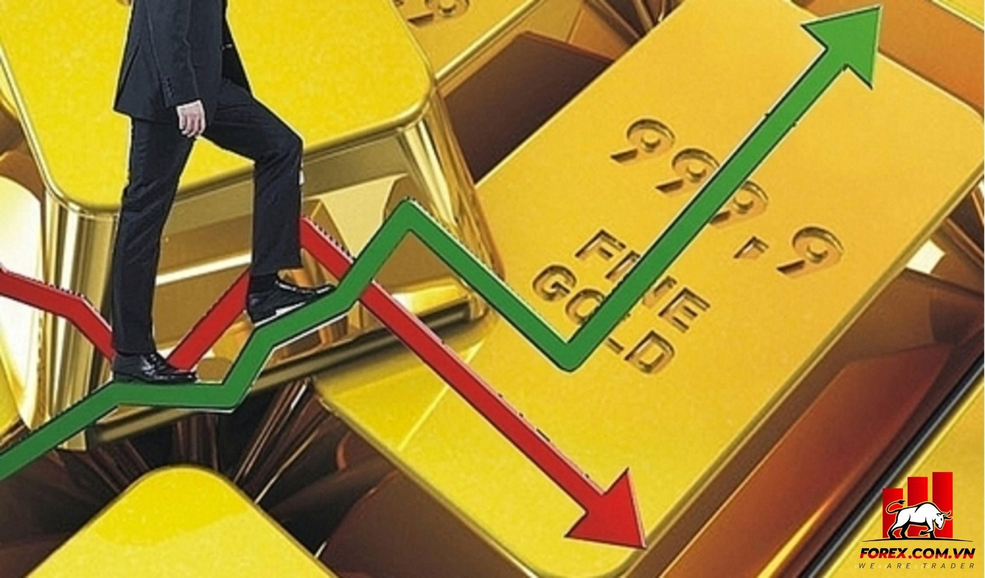 giá vàng giảm trở lại sau đợt tăng giá thẳng đứng