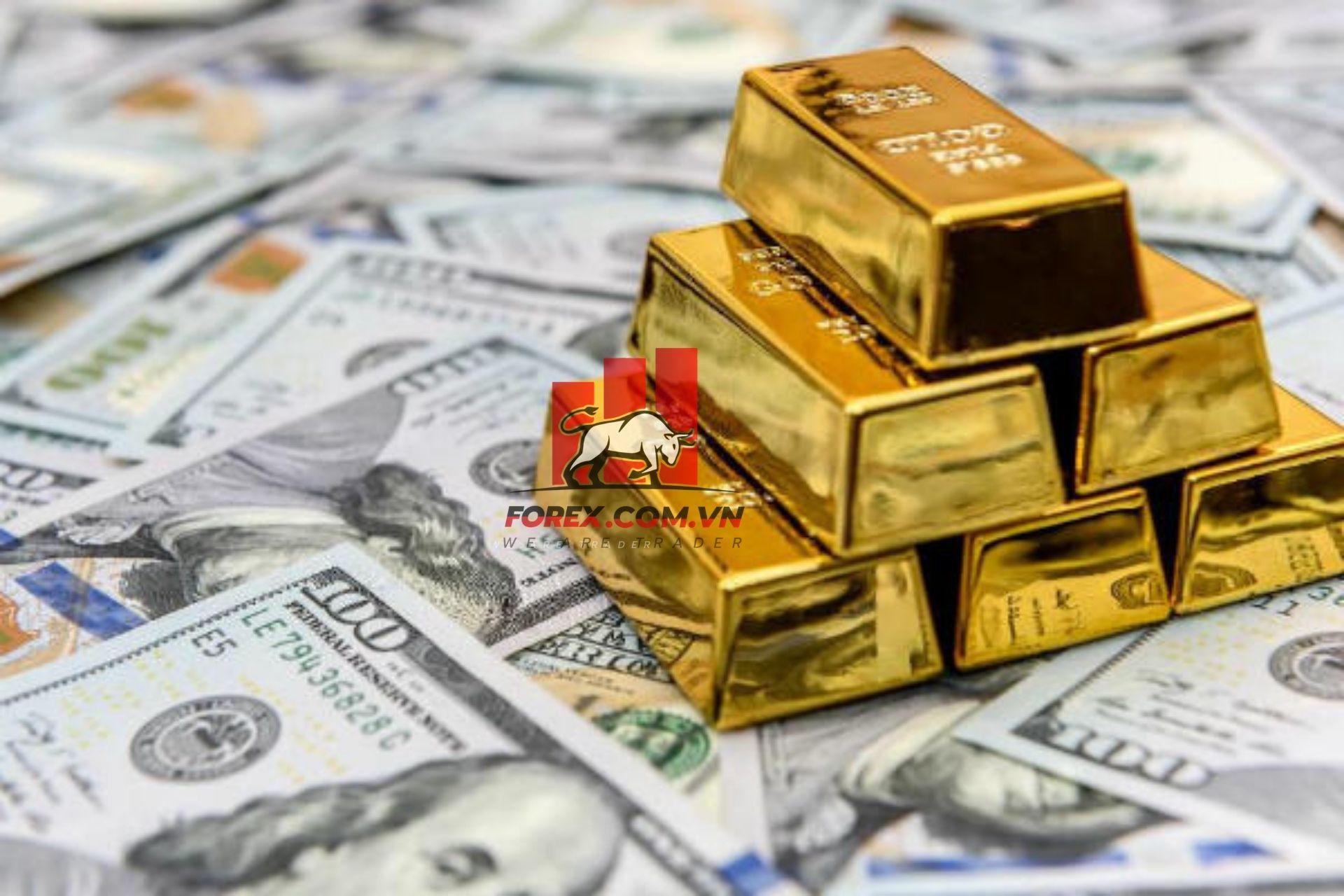giá vàng tăng-giá usd giảm