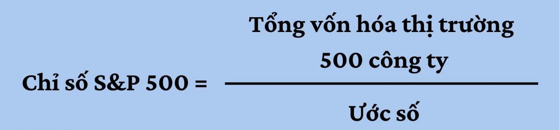 Công thức tính của chỉ số S&P 500