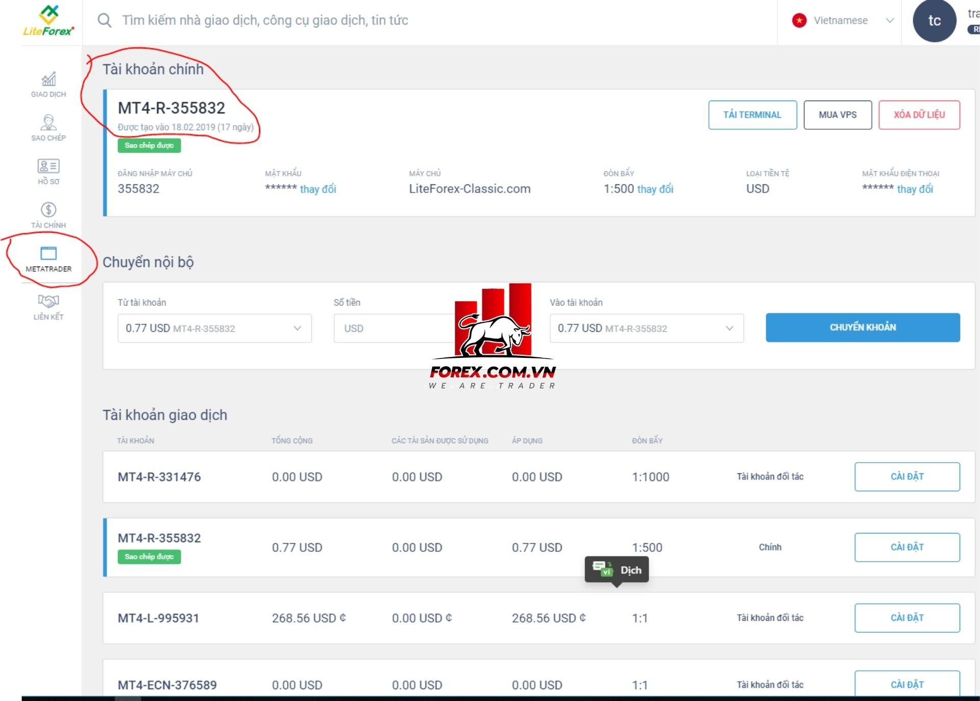đăng ký master trader tại liteforex 3