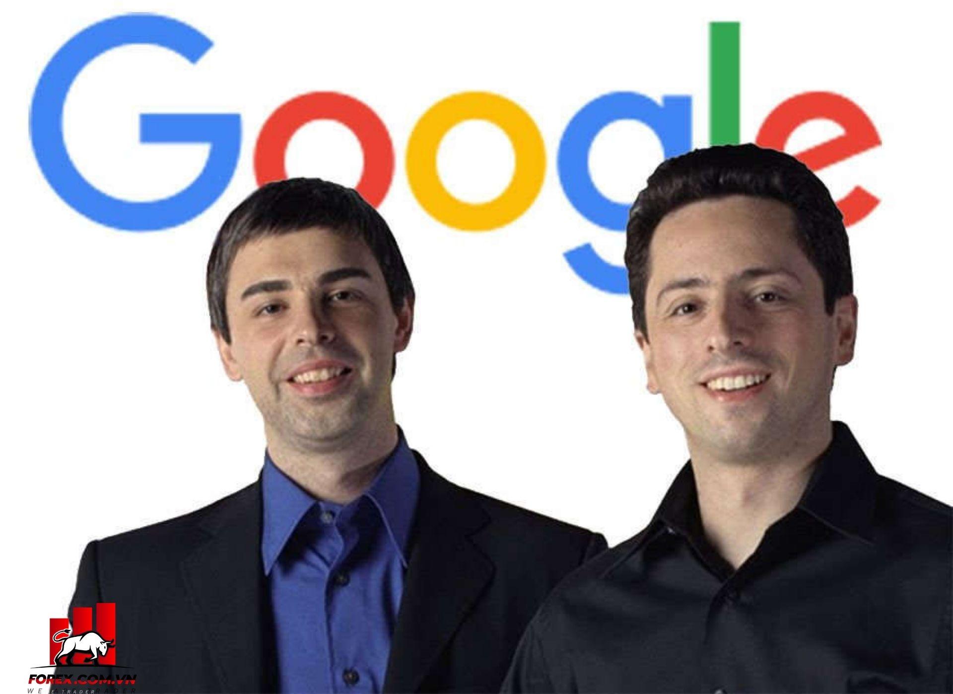 Nhà đồng sáng lập Google Larry Page và Sergey Brin