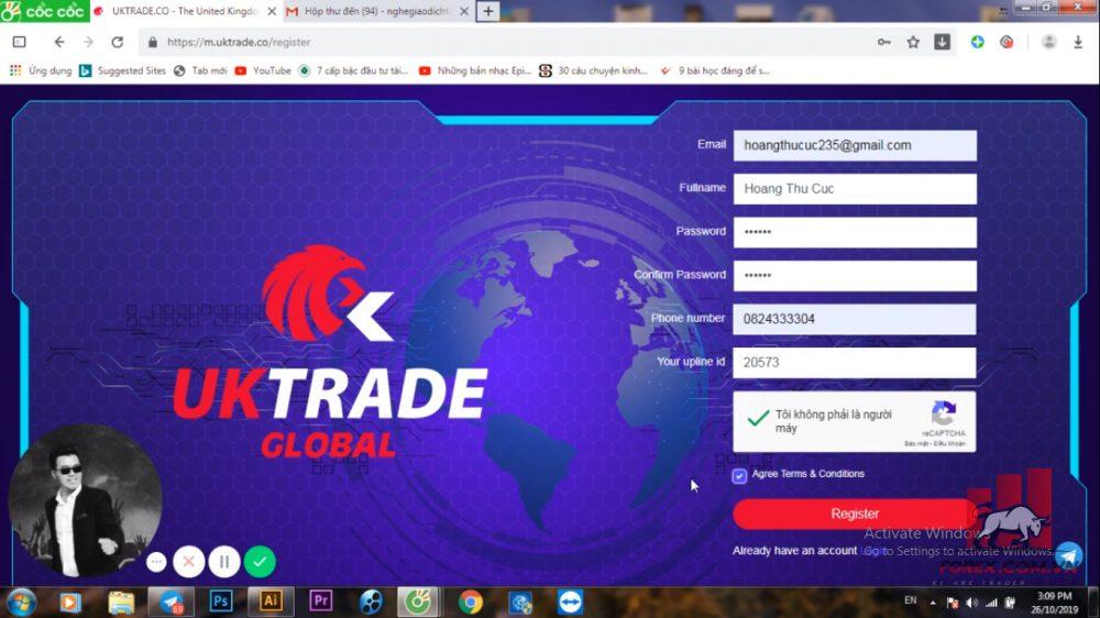 Cách thức giao dịch tại sàn Uktrade Global