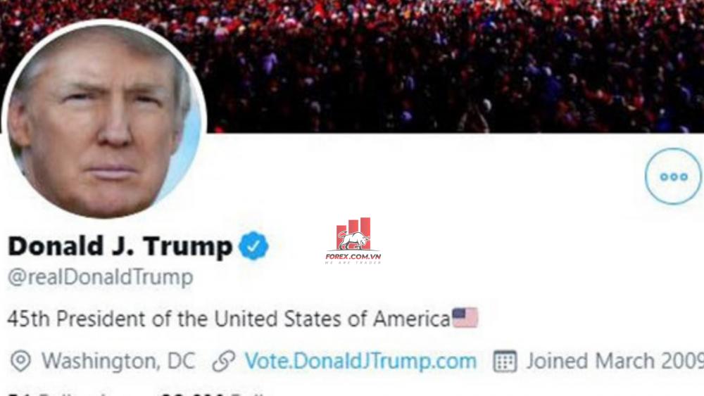 Cổ phiếu Twitter khi khóa vĩnh viễn tài khoản của Trump