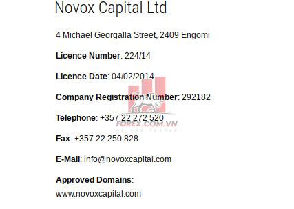 Điểm tin cậy sàn NovoxFX