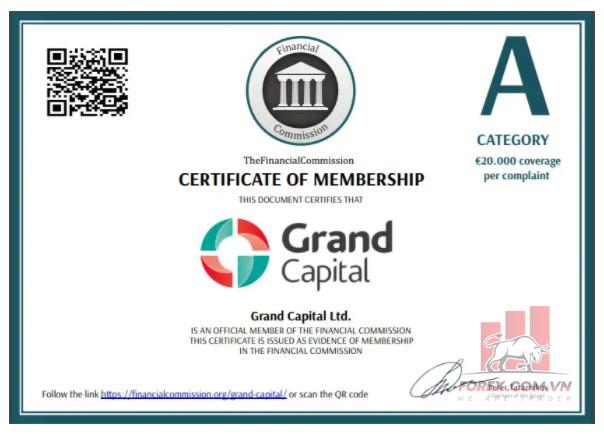 Điểm tin cậy sàn Grand Capital