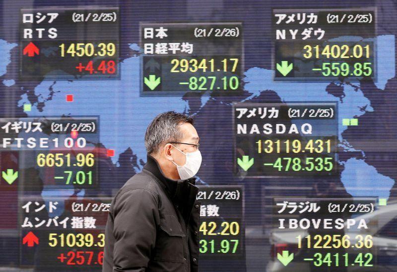Lợi suất trái phiếu Hoa Kỳ giảm khiến thị trường chứng khoán châu Á tăng mạnh
