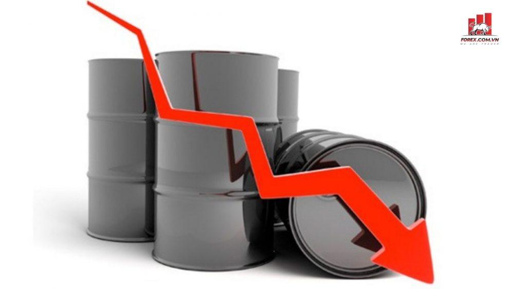 giá dầu thô thế giới giảm