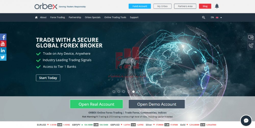 Tổng quan sàn giao dịch ngoại hối Orbex
