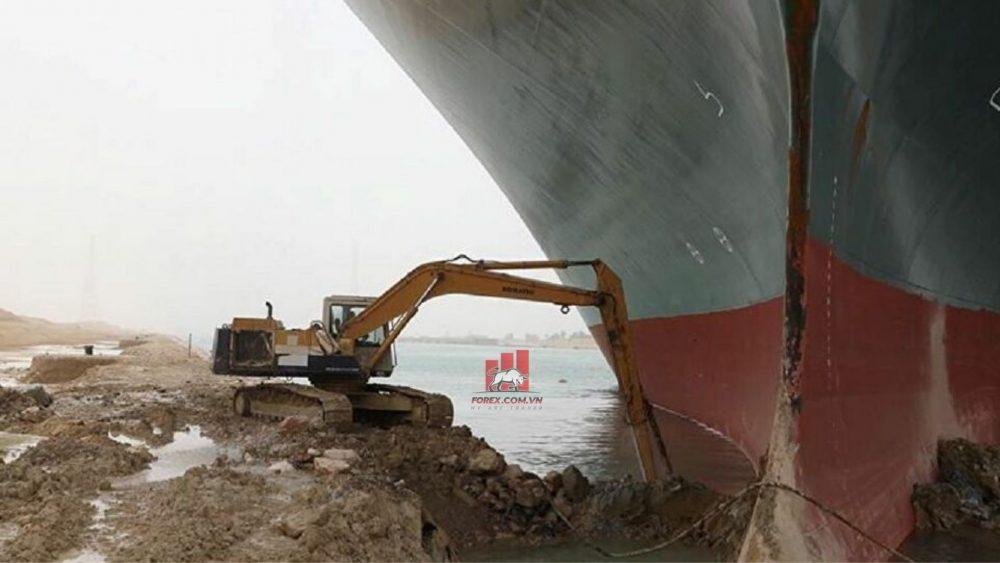 tình trạng tắc nghẽn kênh đào Suez sẽ còn kéo dài trong vài tuần nữa