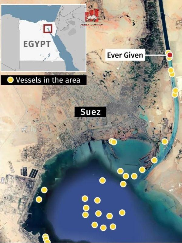 vụ tắc nghẽn kênh đào Suez
