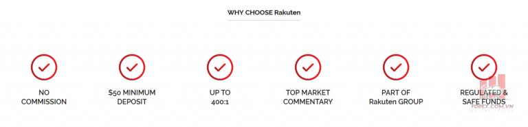 Các tính năng của Rakuten