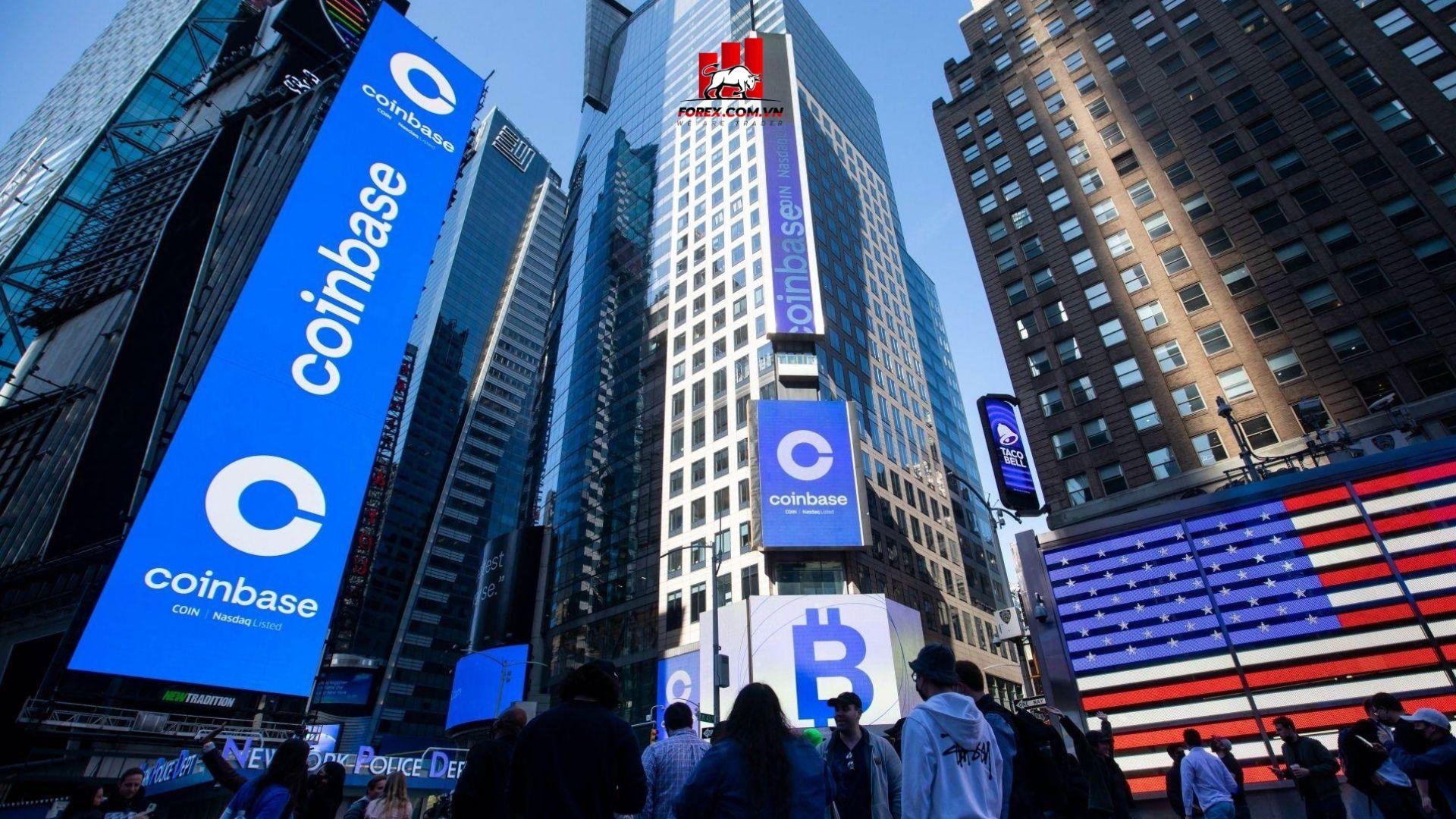 cổ phiếu coinbase tăng mạnh chỉ sau 1 ngày ipo