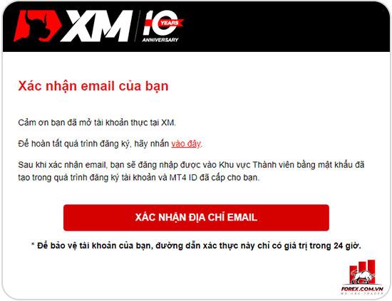 Hướng dẫn xác minh tài khoản XM