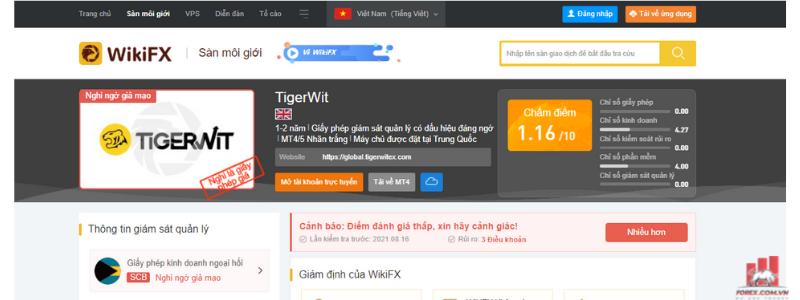 TigerWit có lừa đảo không 3